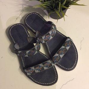 "Anthropologie Shoes - laidback London || ""Eros"" Leather Platform Slide"